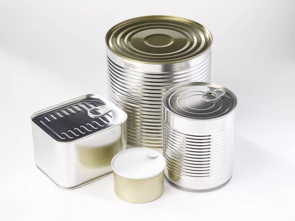 Différents formats de boite de conserve