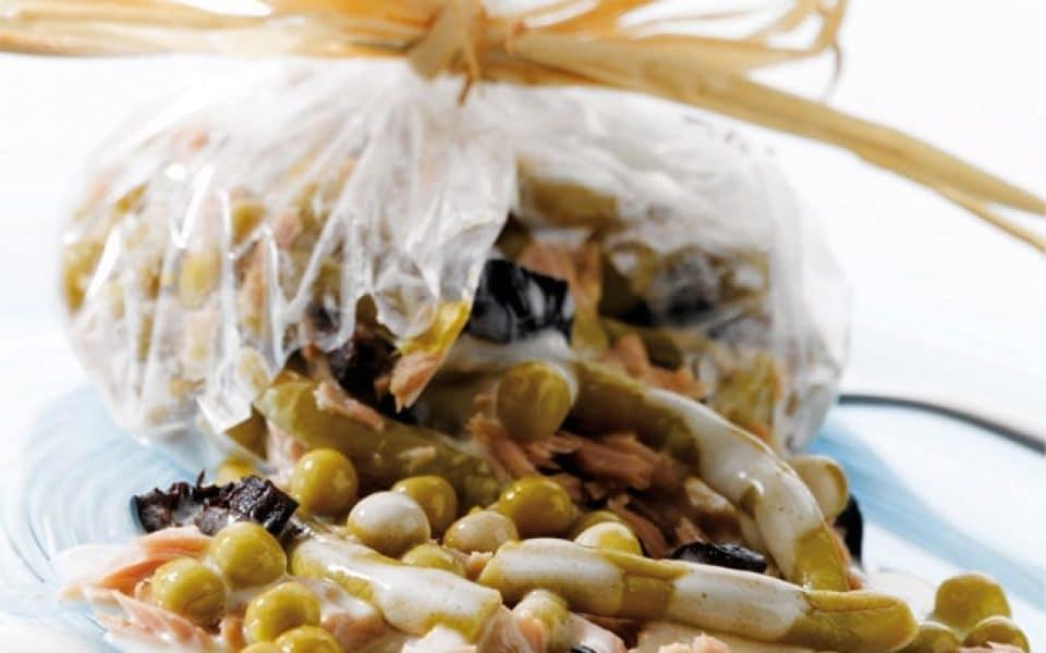 Recette aumônière de thon aux petits légumes