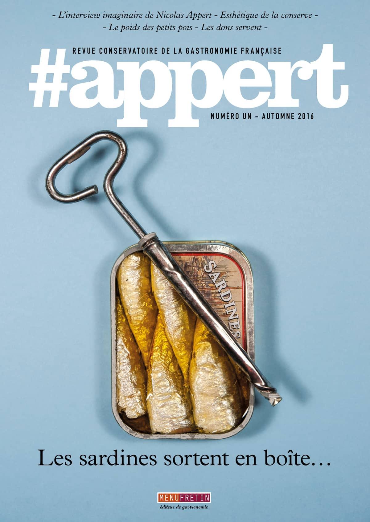 Vient de paraître - #appert, revue conservatoire de la gastronomie française