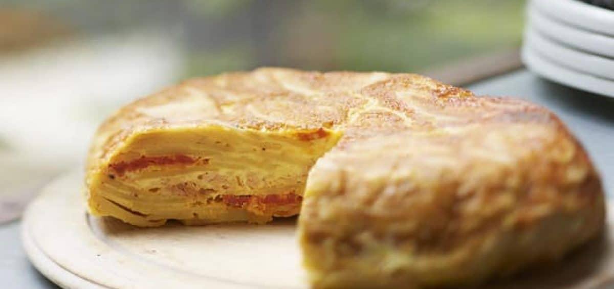 Tortilla pommes de terre, thon et chorizo