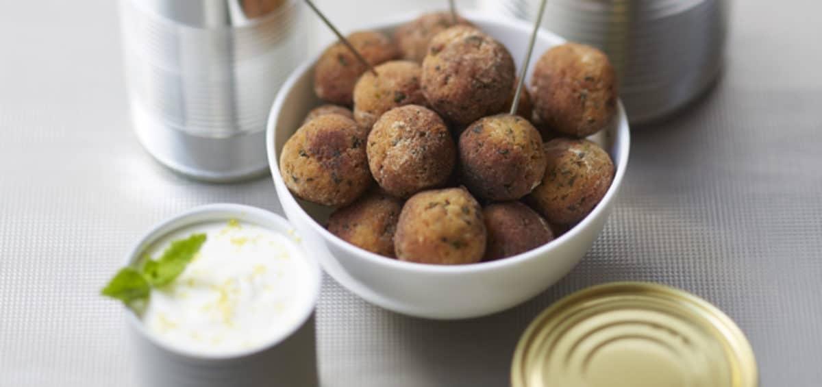 recette boulettes de taboulé, yaourt citronné