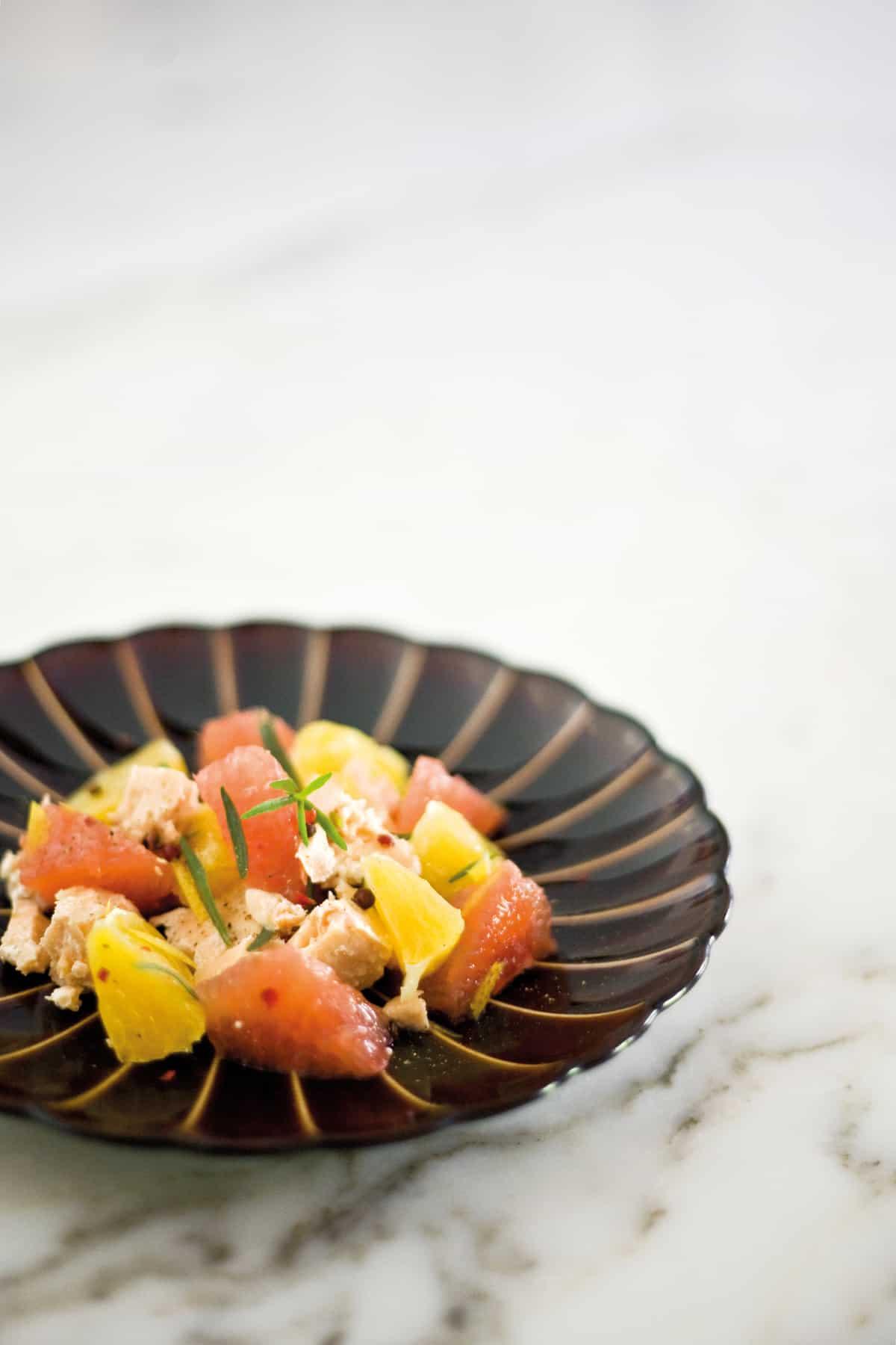 Recettes 5 Minutes Chrono : Salade de saumon