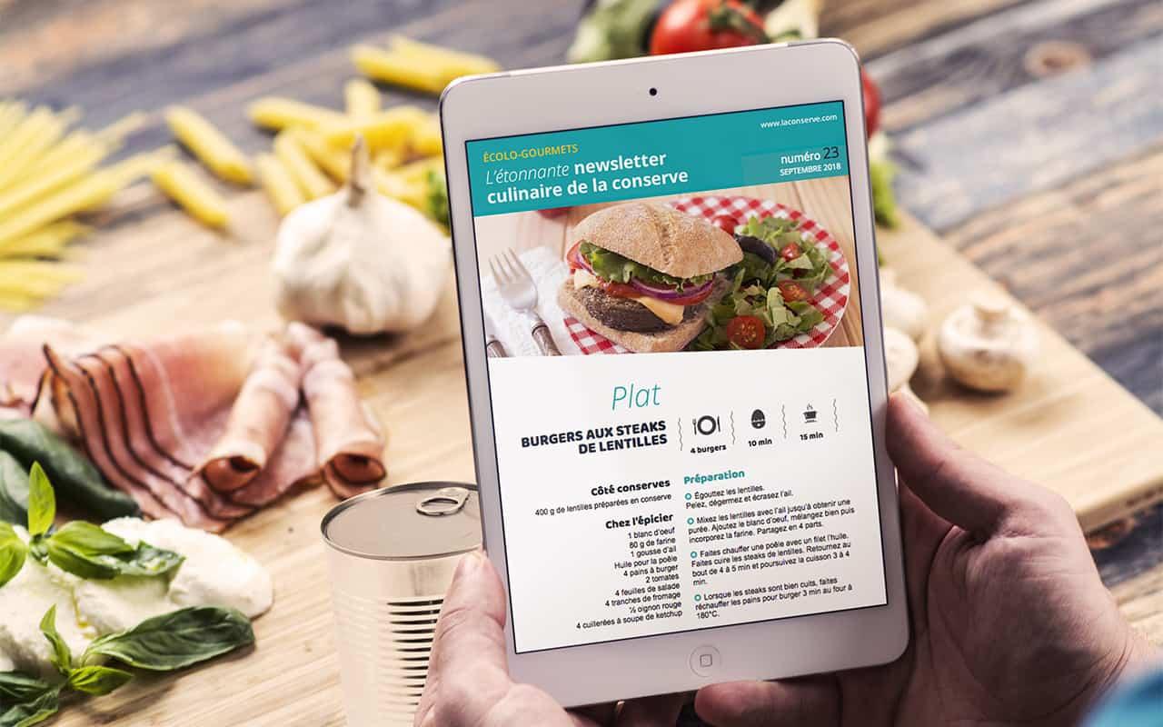 La newsletter culinaire de la conserve, ça vous parle ?